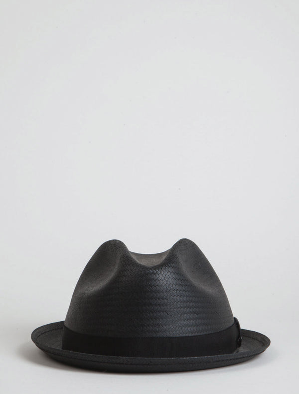 Bailey Wicket Straw Triby Hat - Black
