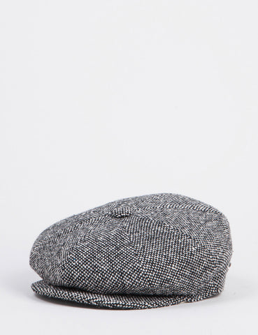 Bailey Galvin Tweed NewsBoy Hat - Black Tweed