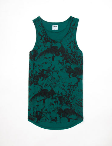 Only NY Under The Sea Vest - Dark Sea Green