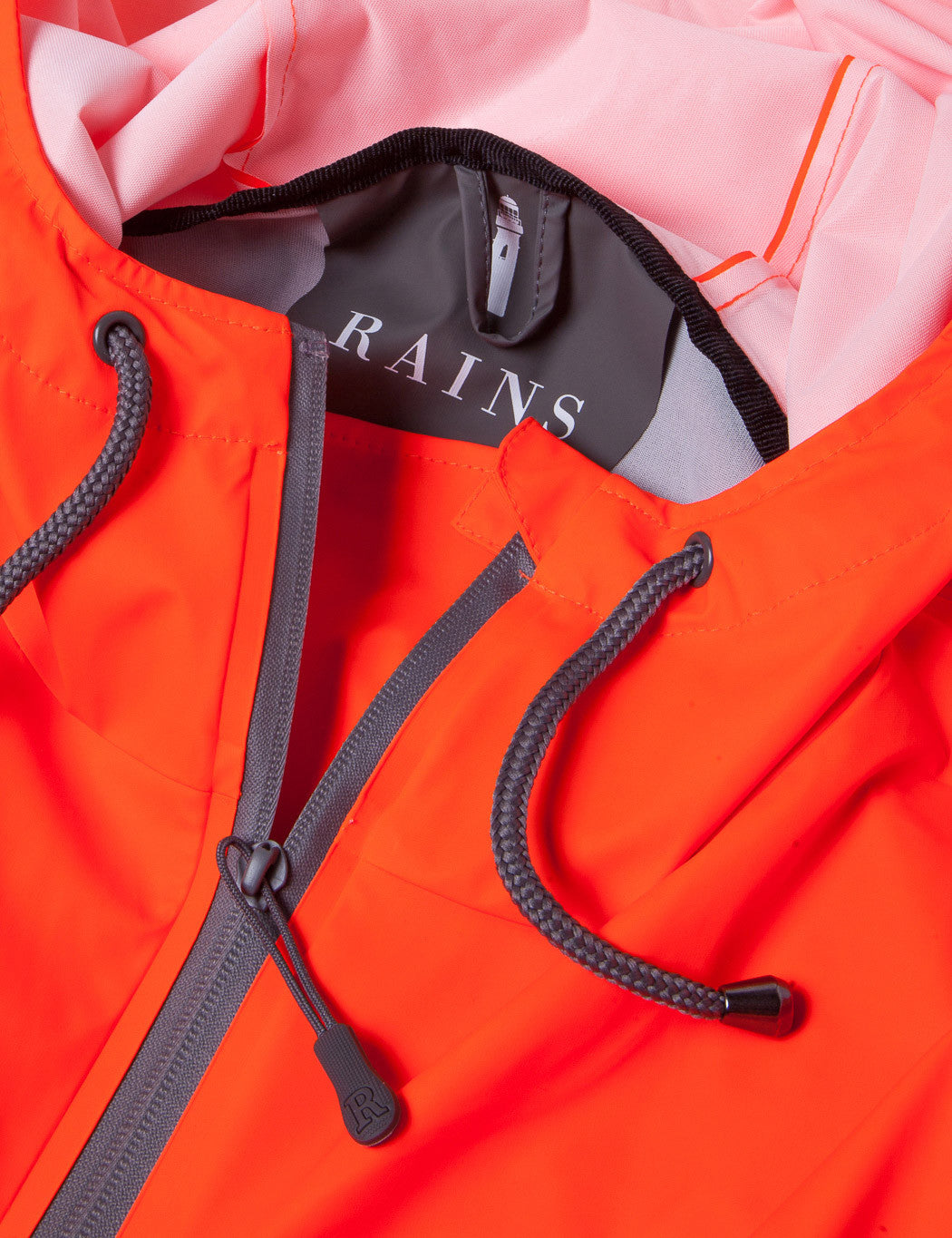 Rains Overhead Anorak - Grey/Orange