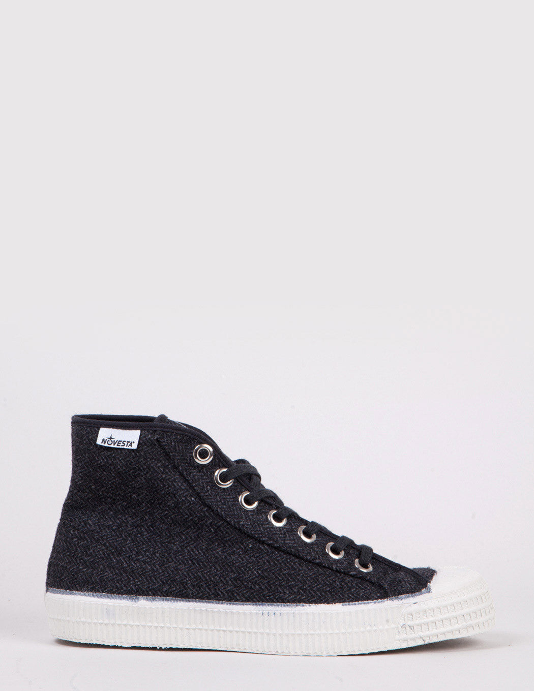 Novesta Star Dribble Wool Trainers - Charcoal