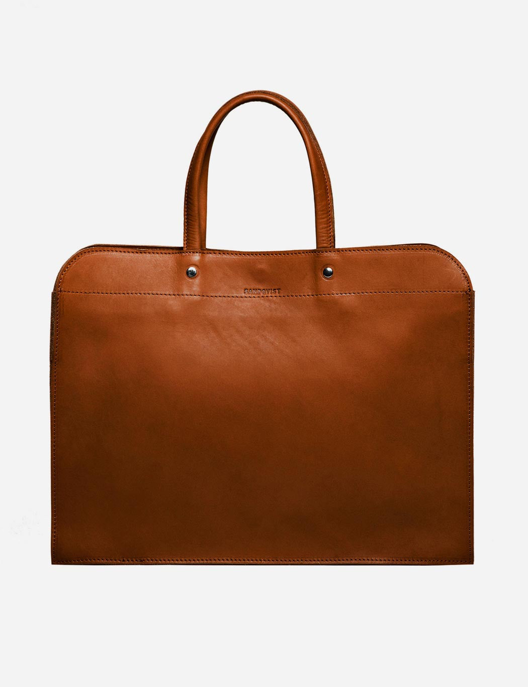 Sandqvist Stina Leather Laptop Bag - Cognac Brown