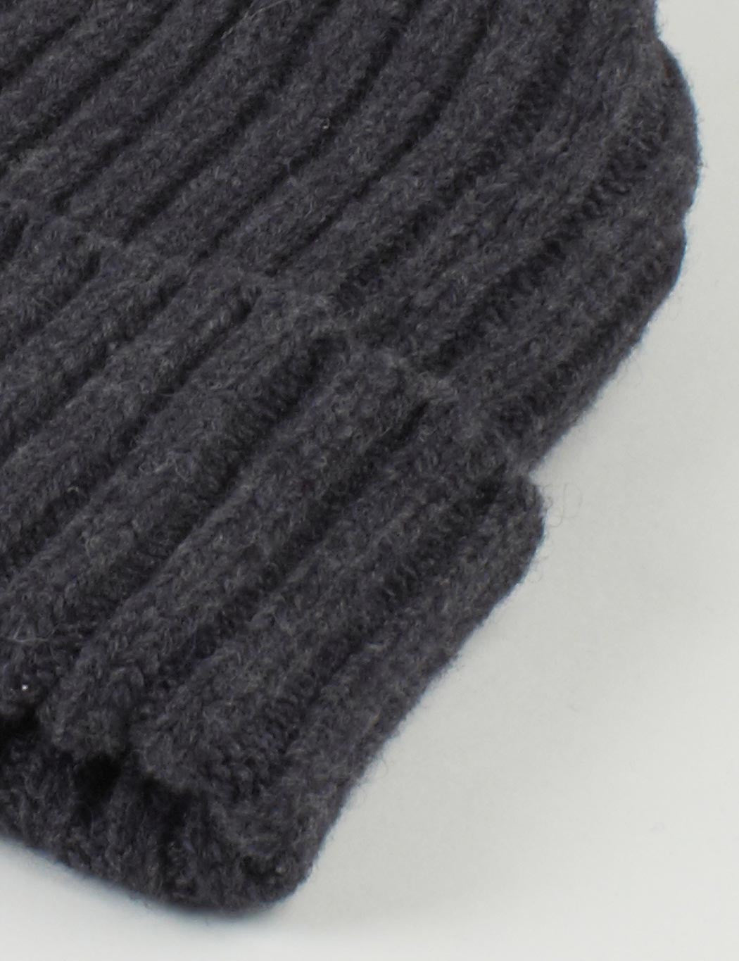 Highland 2000 Ribbed Beanie Hat - Charcoal Grey