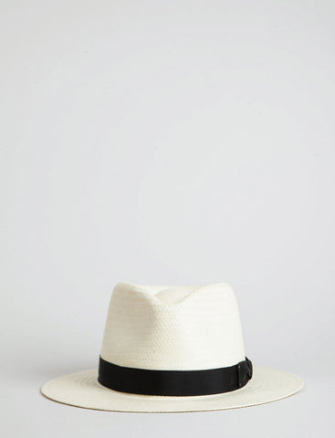 Bailey Spencer Straw Fedora Hat - Natural