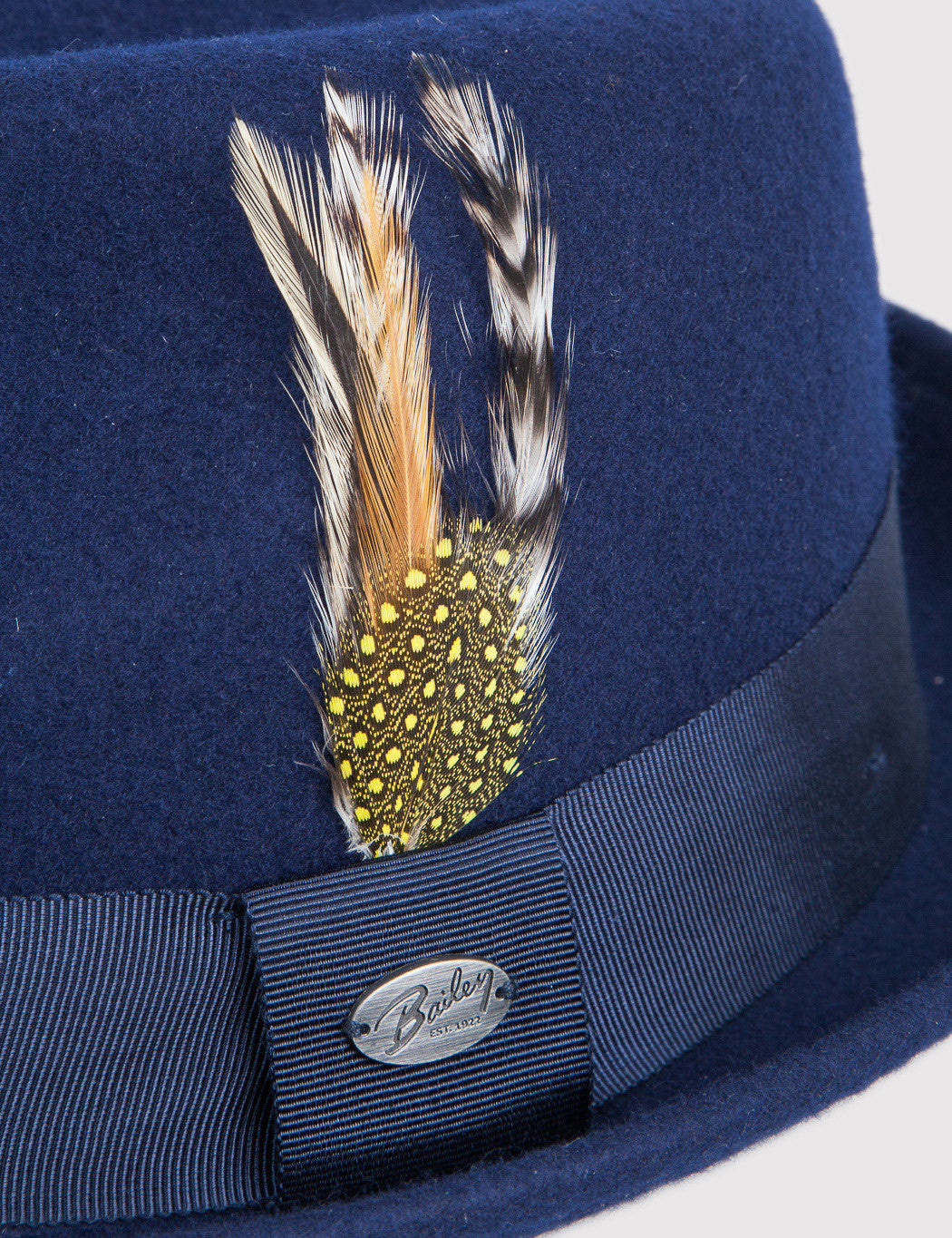Bailey Cloyd Trilby Hat - Navy Blue