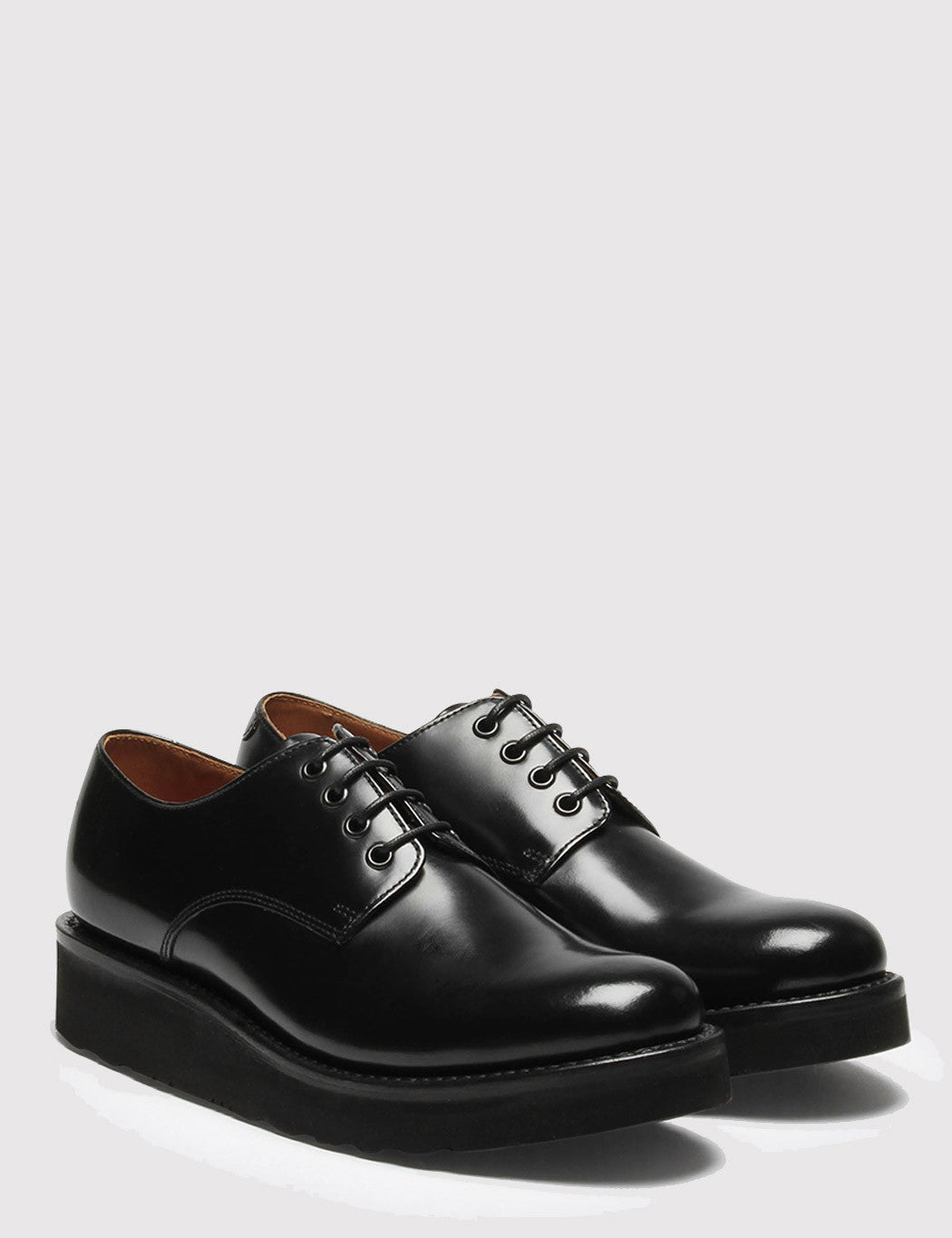 Womens Grenson Ivy Derby Shoes - Black