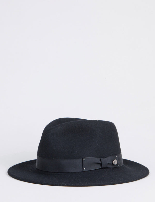 Bailey Curtis Widebrim Fedora Hat - Black