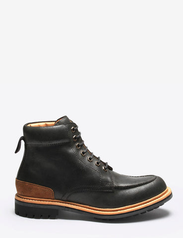 Grenson Otis Suede Boot - Black Roughout