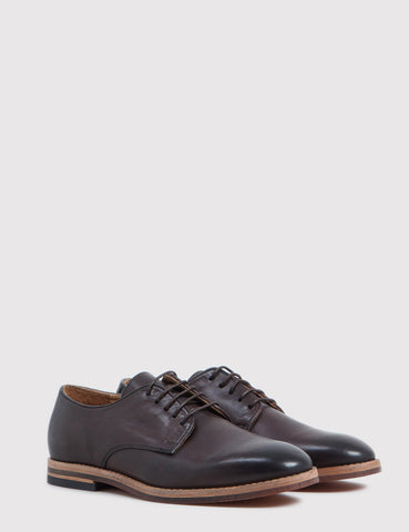 Hudson Hadstone Calf Leather Shoes - Brown