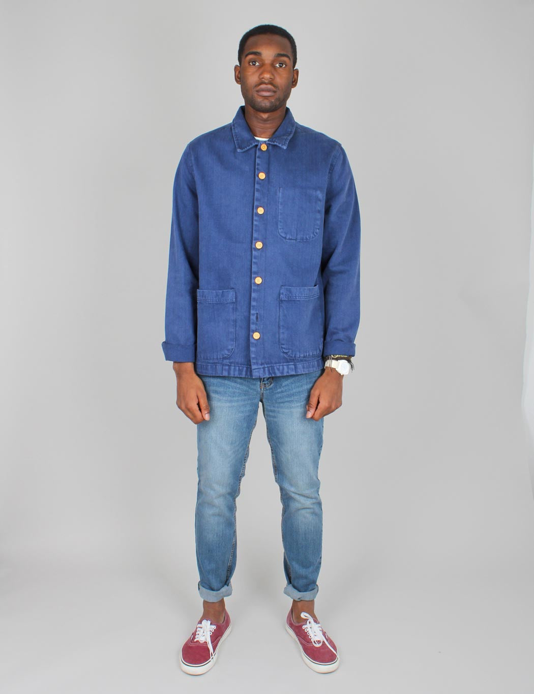 Bellfield French Worker Jacket - Blue