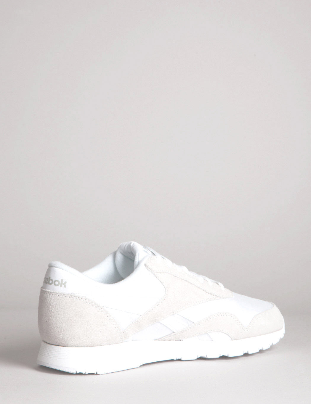 Reebok CL Nylon Trainers - White/Light Grey