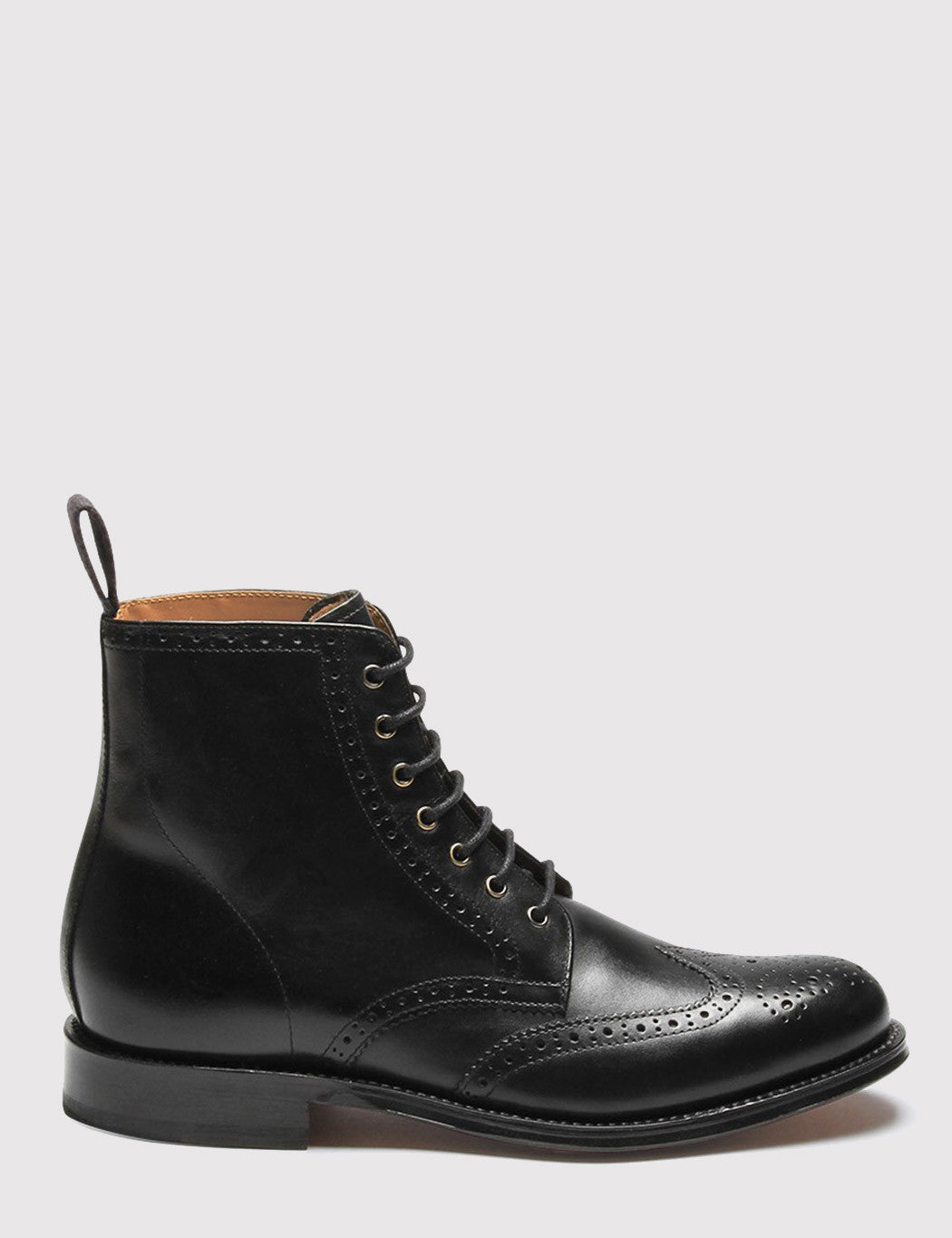 Womens Grenson Ella Brogue Boot - Black/Black
