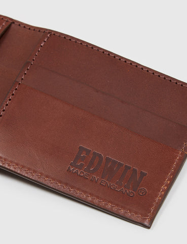 Edwin Cash Leather Wallet - Brown