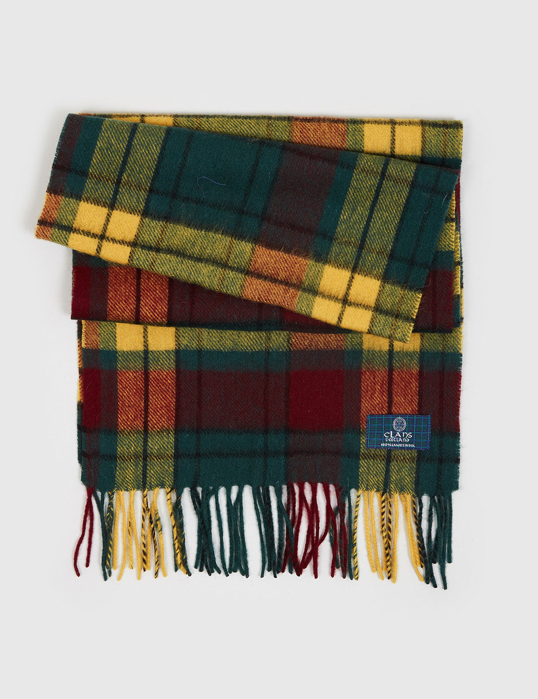 Clans of Scotland Lambs Wool Scarf - MacMillan Old