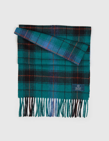 Clans of Scotland Lambs Wool Scarf - Davidson Ancient Green