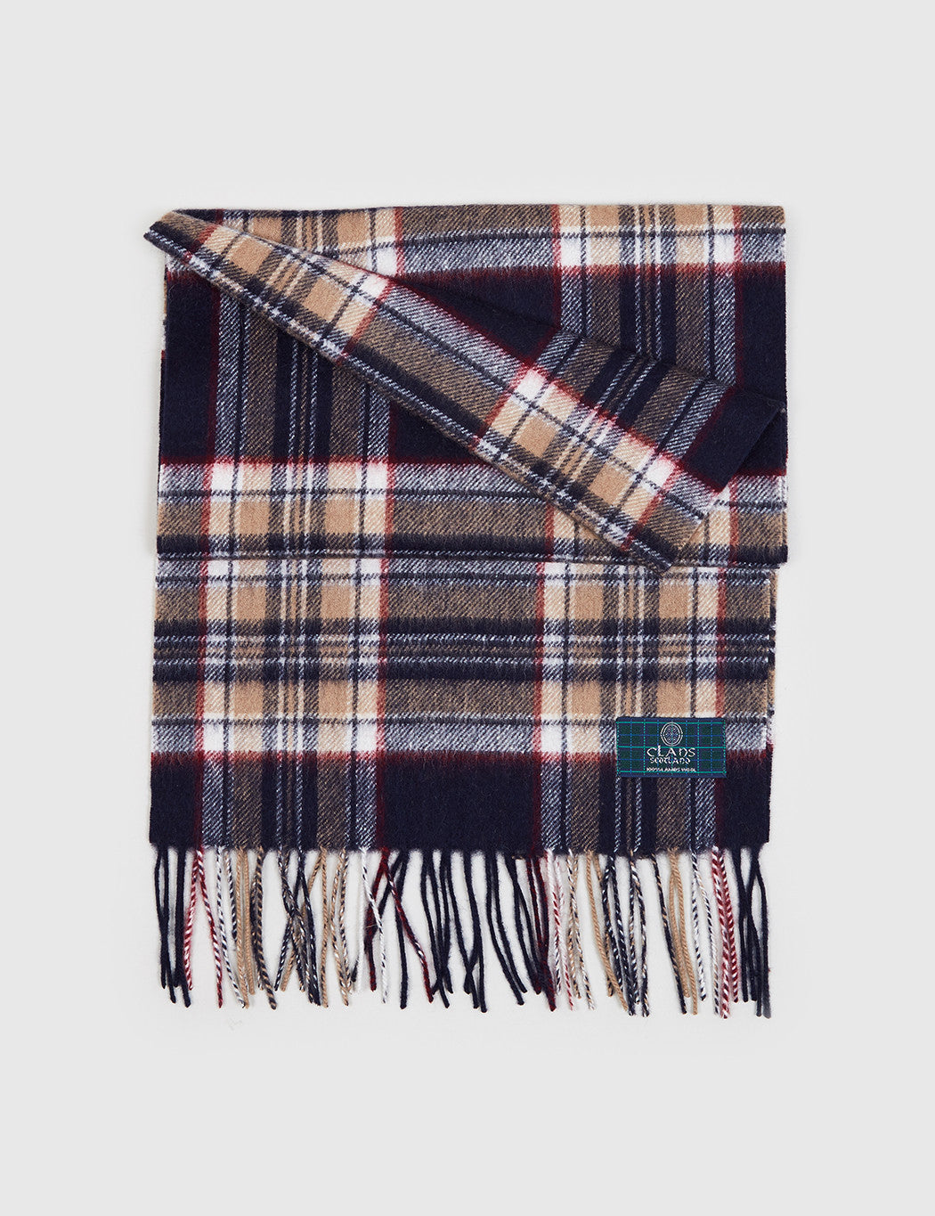 Clans of Scotland Lambs Wool Scarf - Stewart Navy