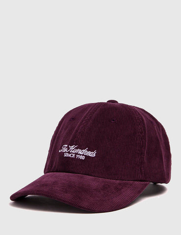 The Hundreds Plain Cord Dad Cap - Burgundy
