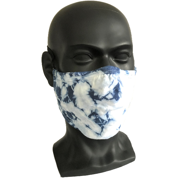Cosmic Crinkle Face Masks - Blue/Gray