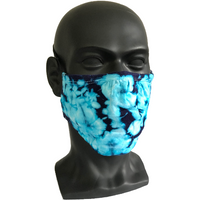 Cosmic Crinkle Face Masks - Turquoise/Purple