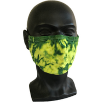 Cosmic Crinkle Face Masks - Yellow/Green
