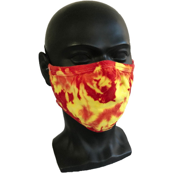Cosmic Crinkle Face Masks - Yellow/Red