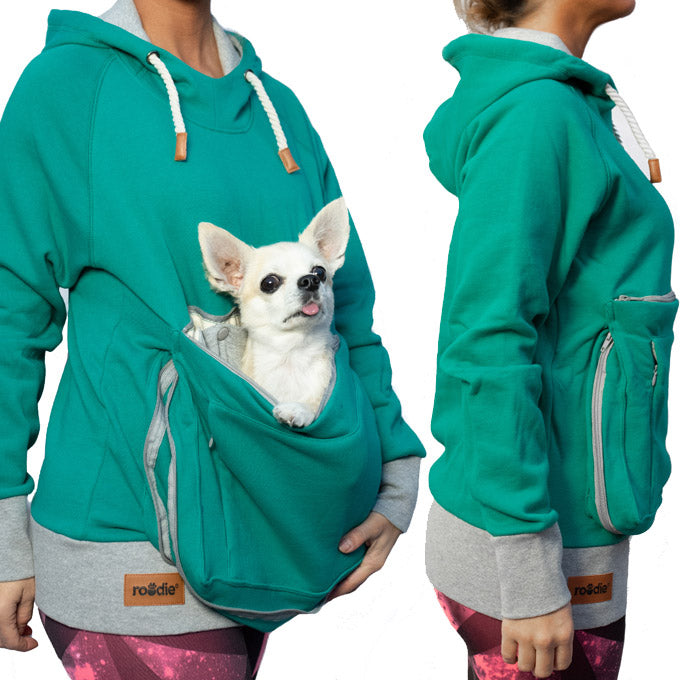57aa32e80d3b Roodie Pet Carrier Hoodie Shirt with Carry Pouch for Small Dog or ...