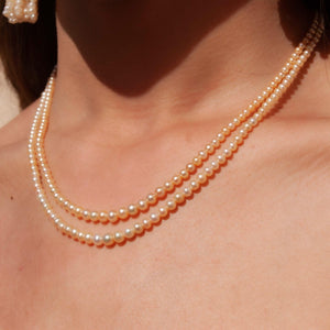 2 Row Pearl Necklace