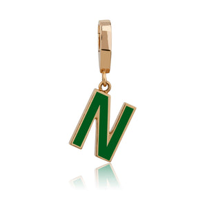 LETTER MANIA ENAMEL CHARMS
