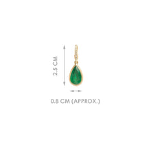 Load image into Gallery viewer, PEAR SHAPED EMERALD CHARM