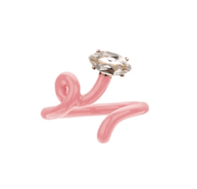 Load image into Gallery viewer, Baby Vine Tendril Ring in Coral Pink