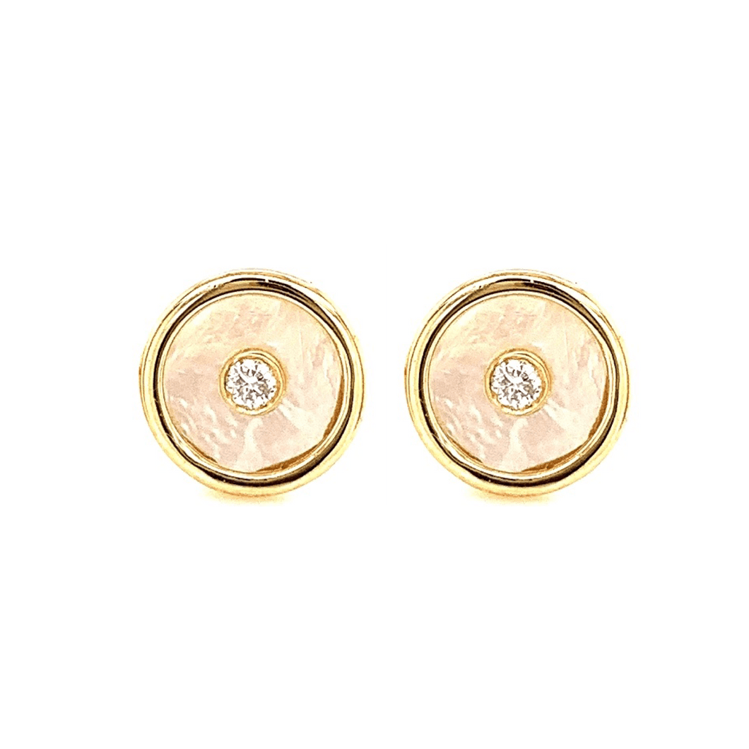 Birthstone earring set in Bahraini Mother of Pearl