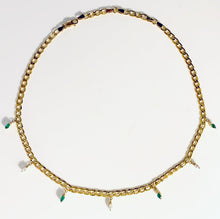 Load image into Gallery viewer, Pret-a-porter Diamond and Emerald Chokers