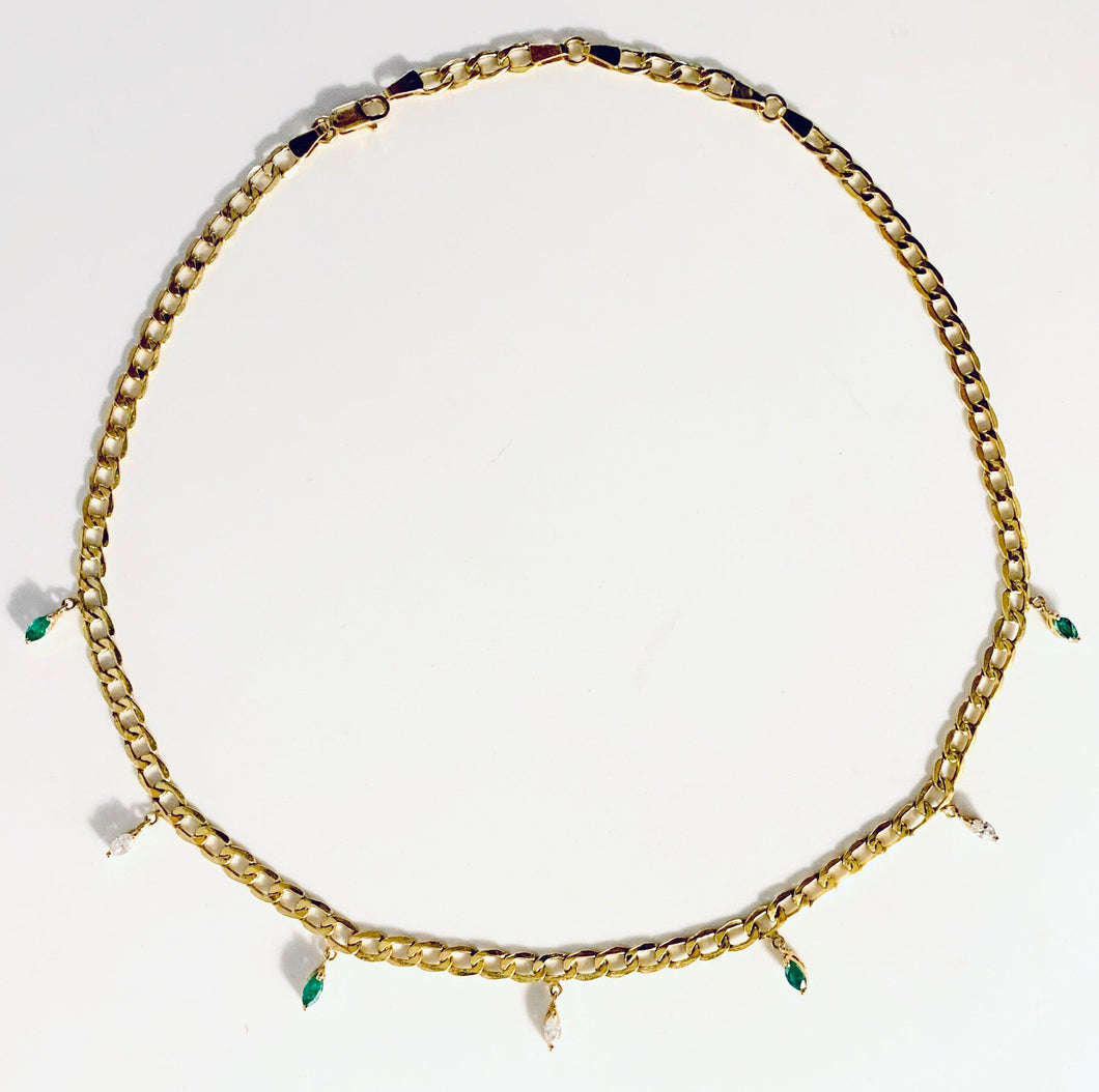 Pret-a-porter Diamond and Emerald Chokers