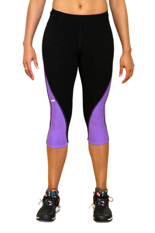 Pro Resistance Capris for Women - Electric Purple