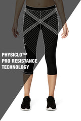 Pro Resistance Capris for Women (Grey/Black)