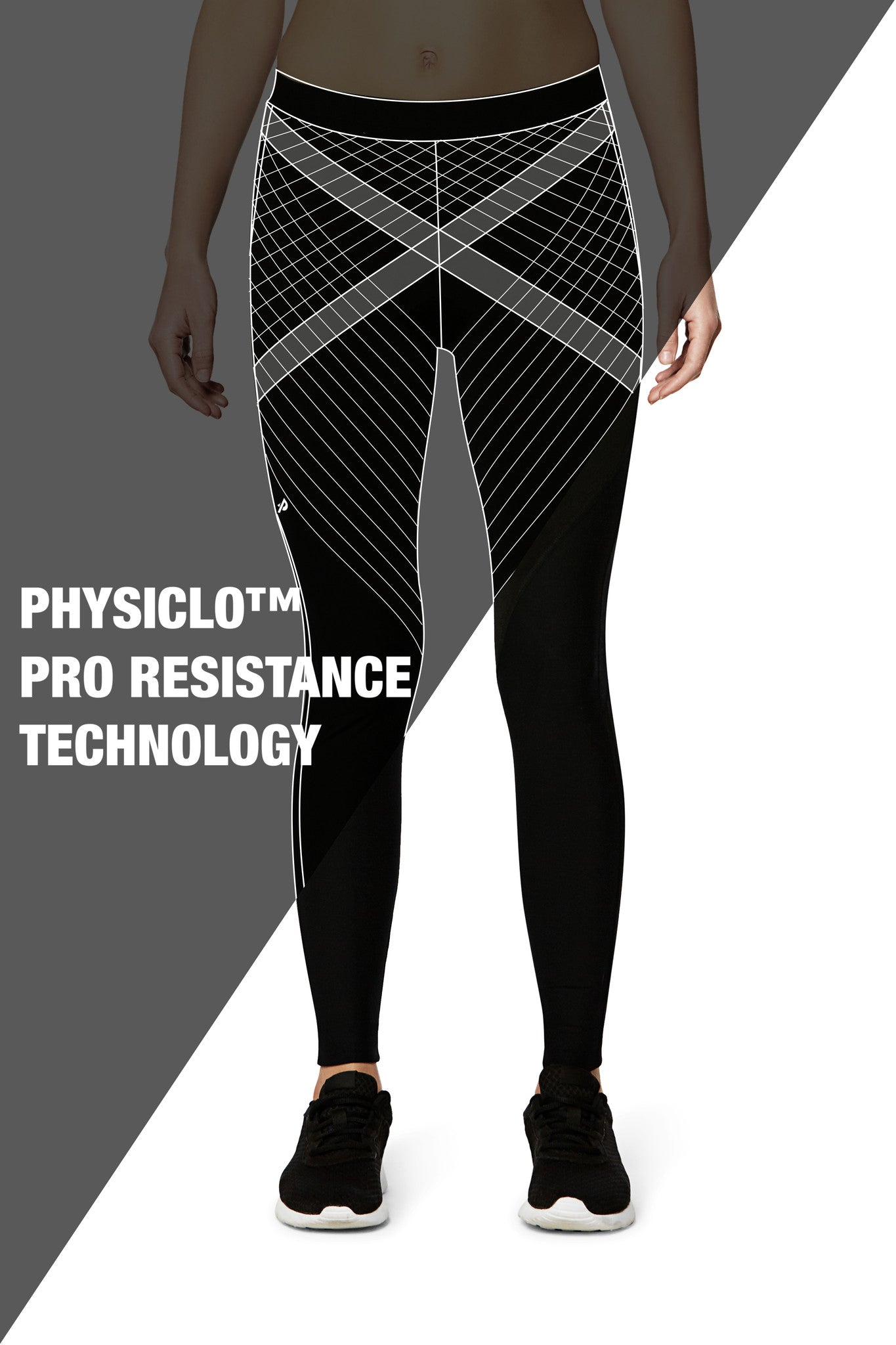Pro Resistance Tights for Women (Grey/Black)