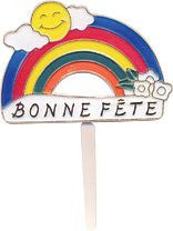 Bonne Fete Rainbow Picks - 24 Count