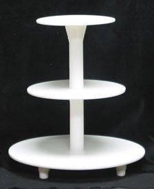 3-Tier Cake Stand - White