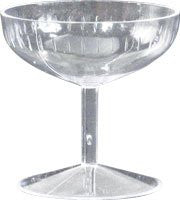 Clear Mini Champagne Glass - 72 Count