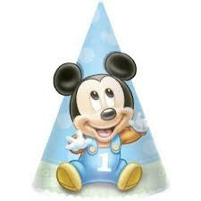 Mickey 1st Birthday Cone Hats