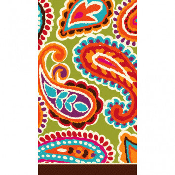 Bright Paisley Hand Towels
