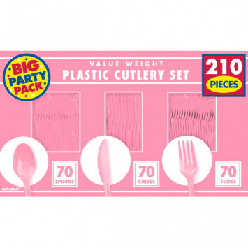 New Pink Value Window Box Cutlery Set, 210ct
