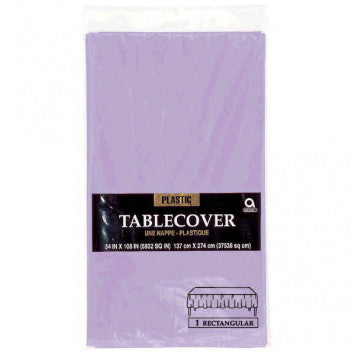 Lavender Rectangular Plastic Table Cover