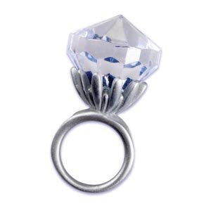 DIAMOND RING ADORN SILVER /  6 pcs