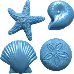 Assorted Seascapes Set Silicone Mold - 1 Set