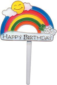 Happy Birthday Rainbow Picks - 24 Count