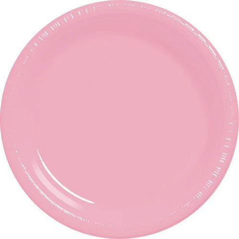 Amscan Big Party Pack New Pink Plastic Lunch Plates