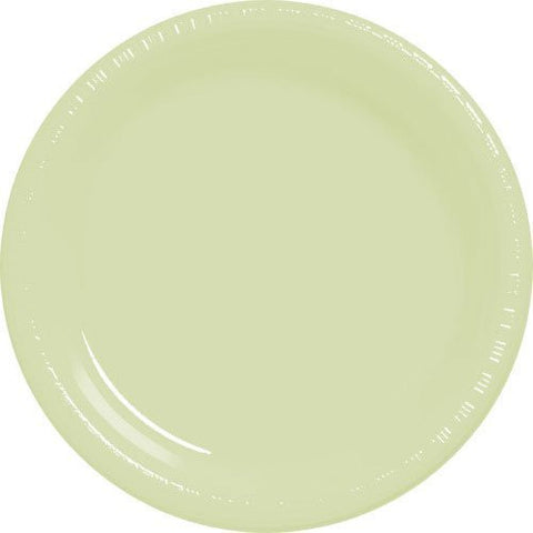 Amscan Big Party Pack Leaf Green Plastic Lunch Plates
