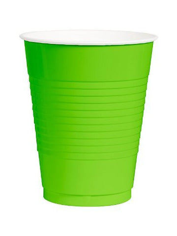 Amscan Big Party Pack Kiwi 12 oz Plastic Cups
