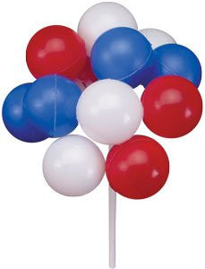 Red, White, & Blue Balloon Clusters - 36 Count